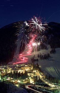 Taos Ski Valley Fireworks, New Mexico