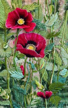 Mitra McQuilton, thread painting