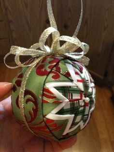 Quilted ornament ball