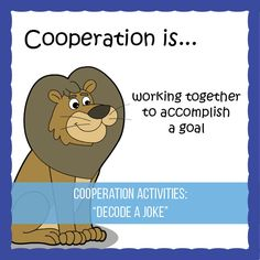 In this activity, students must work together and cooperate to decode a series of jokes.