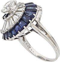 Estate Jewelry:Rings, Diamond, Sapphire, Platinum Ring, Oscar Heyman Bros.. ...