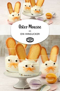 Oetker Rezepte Easter Mousse: Quick simple dessert with a sweet decoration for Easter Blueberry Scones, Vegan Blueberry, Easy Desserts, Dessert Recipes, Easter Recipes, Recipes Dinner, Zucchini Pommes, Canned Blueberries, Vegan Scones