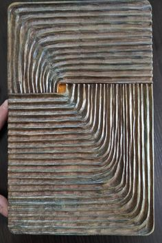This unique Wall Art Sculpture is made of poplar wood, using hand -non electrical- tools. Painted with water based paints and copper gold paint and is finished with oil. #Woodcarving #Woodpanel #handcarved #Geometricsculpture #abstract #abstractart #Minimalart #handmade #wallart #woodsculpture #Skalizo #ChourmouziadisVasileios Geometric Sculpture, Wood Sculpture, Sculptures, Wooden Wall Art, Wood Art, Electrical Tools, Unique Wall Art, Panel Art, Gold Paint