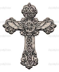 Szczegółowa ilustracja krzyż - Ilustracja stockowa: 28960265