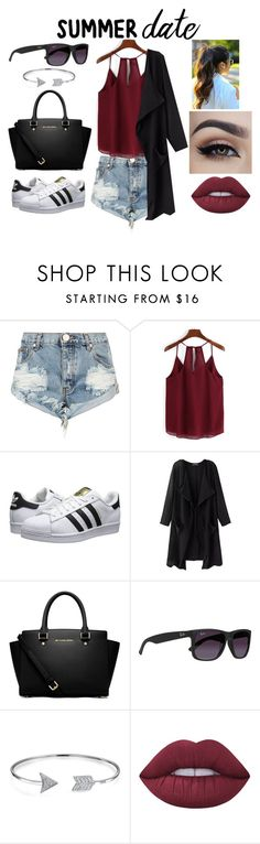 """Untitled #37"" by kristina2001 on Polyvore featuring One Teaspoon, adidas Originals, MICHAEL Michael Kors, Ray-Ban, Bling Jewelry and Lime Crime"