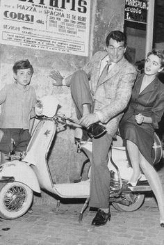 Dean Martin, Italy, Vespa. I think all I really like is that it's old and black and white.