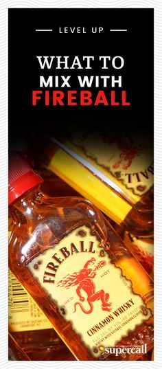 What to Mix with Fireball Now that you've finally grown up, it's time to stop taking Fireball shots. But if you're still holding on to your youth, you don't have to give it up altogether—you just have to find some more respectable ways to drink it. Fireball Recipes, Whiskey Recipes, Alcohol Drink Recipes, Cocktail Drinks, Fun Drinks, Liquor Drinks, Alcoholic Desserts, Cocktail Recipes, Beverage
