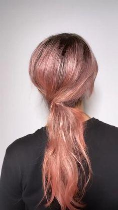Hair Twist Styles, Medium Hair Styles, Curly Hair Styles, Pretty Hairstyles, Easy Hairstyles, Girl Hairstyles, Medium Hair Ponytail, Ponytail Hairstyles Tutorial, Hair Upstyles