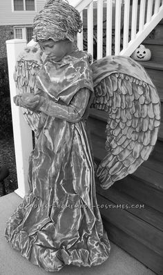 Amazing Cement Angel Costume ...This website is the Pinterest of costumes