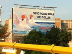 Sincronizadas de pollo, ja ja ja...   Sorry, you wouldn't understand it in english...