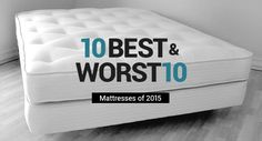10 Best Mattresses of 2015 and 10 Worst-Rated Beds to Avoid Mattress Cover For Moving, Mattress Covers, Foam Mattress, Best Rated Mattress, Top Rated Mattresses, Mattress Springs, New Beds, Cool Beds, Houses