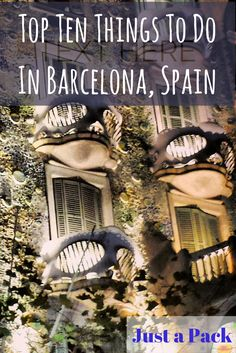 Just a Pack's Top Ten Things to do in Barcelona. I did all of these except the bar and the club! #beautifulcity