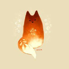 Thai Tea Fox Doodle. :)