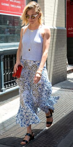 PEOPLE Best Dressed List: Sienna Miller in a maxi skirt and gray tank top