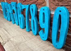 Handmade Ceramic House Number in ADRIATIC by MyFavouriteColourLLC, $13.00