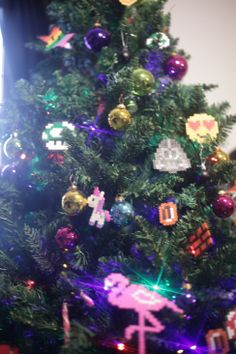 kunterbunter Weihnachtsbaum Bügelperlen Iron Beads Colorful Christmas Tree, Landscape, Holiday Decor, Interior, Urban, Home Decor, Christmas, Scenery, Decoration Home