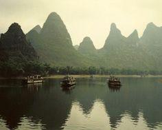 Guilin Li River Chinese Mountains