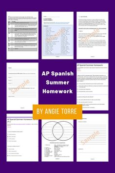 These summer homework assignments accomplish three things: They keep students exposed to Spanish during summer months or semester breaks, provide preparatory practice for each section of the #APSpanish Language and Culture Exam and provide training wheels in the form of vocabulary and sheltered language for the reading and audio sources. They will prepare students for the rigor of AP Spanish without overwhelming them. For Spanish 3 & 4 students preparing to take AP Spanish after a break. Summer Homework, Passed The Test, Ap Spanish, Spanish Language, Summer Months, Lesson Plans, Curriculum, Vocabulary, Teaching