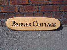For a clients cottage, in oak, 2013 Bamboo Cutting Board, Dan, Carving, Cottage, Lettering, Home Decor, Decoration Home, Room Decor, Wood Carvings