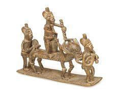 Three Ashanti Men, Animal #1699 | Figures | Metal — Deco Art Africa - Decorative African Art - Ethnic Tribal Art - Art Deco