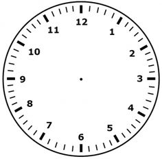 klok 001 Preschool Learning Activities, Teaching Resources, Blank Clock, Clock Worksheets, Math Boards, Baby Clip Art, Gifts For Office, Inclusive Education, Primary School