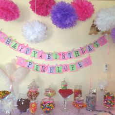 My first Candy Buffett for my Granddaughters 3rd Birthday.