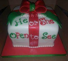 Christmas gender reveal Cake