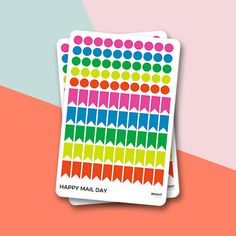 Colourful dots and flags for planners, diaries, journals etc. This is the Bright theme.