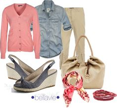 """""""pink & denim"""" by bellaviephotography ❤ liked on Polyvore"""