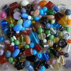 100 Grams Glass Bead Soup Mix ~ Mixed Sizes, Shapes & Colours ~ Special Offer | eBay