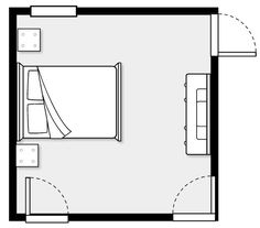 This website lets you enter the dimensions of your rooms/furniture and design room layouts.