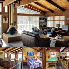 Shanty Creek Treehouse is a secluded modern cabin with a wooded view and access to a shared indoor pool and hot tub. Book direct with Northern Michigan Cabin for the best rate: #treehouse #upnorth #itscabintime #bookdirect