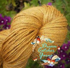 Hand Dyed Yarn MUSTARD GOLD Alpaca Wool Silk Cashmere Sock Shawl 437y Gourmet #BabaYagasGarden #3plysock