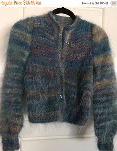 ON SALE Vintage Wool Sweater Wool Cardigan by LovesGypsyMarket