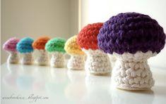 free crochet toadstool pattern
