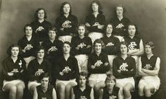 AFL History- 'When the women of Carlton took to the field' Let's make AFL a girl's sport Carlton Afl, Carlton Football Club, Australian Football, Melbourne Victoria, Teaching History, Go Blue, Sport Girl, Old Photos, Fields