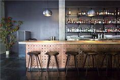 Mater High Stool @ Legendary Cocktail Bar Vessel Returns to Downtown - Eater Inside - Eater Seattle Restaurant Concept, Cafe Restaurant, Bar Interior, Interior Design, Eclectic Restaurant, Best Cocktail Bars, High Stool, Tapas Bar, Bar Stools