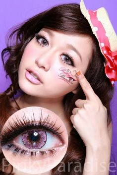 EOS Ice Pink Circle Lenses (Colored Contacts)