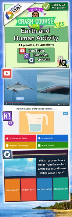 Point and Click for instant Mini-Lessons with Game-Based Assessment!   ?    https://www.teacherspayteachers.com/Product/Crash-Course-Kids-Earth-and-Human-Activity-IQ-NGSS-2881061 � Quizizz and Kahoot, game-based learning!