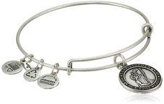 Alex and Ani St. Christopher Rafaelian Silver Finish Expandable Bracelet