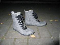 Купить Валяные ботинки BUONGIORNO - серый, ботинки, валенки для улицы, валенки на подошве, валеночки, валенки