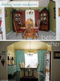 Dining Room Makeover on a #Budget #DIY #makeover #beforeandafter