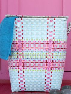 Laundry Basket Mia - Berry Red