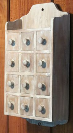vintage 12 drawer spice cabinet apothecary by RelativelyStable, $70.00