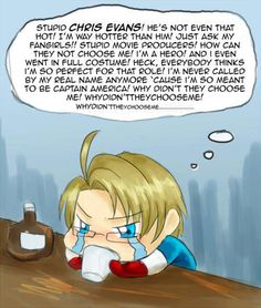 Hetalia ~~ The role of Captain America was already taken... Poor thing.
