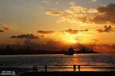 Sunset from Beirut   الغروب من بيروت  By Fadl Rostom   Please join us http://fb.com/WeAreLebanon