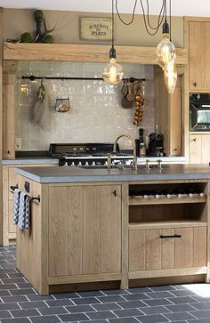 Adorable Simple Kitchen Design Ideas - There are island designs that come already accessible and might fit your wants and preferences. The islands present options to and area issues in your small kitchen. Driftwood Kitchen, Wooden Kitchen, Rustic Kitchen, Kitchen Soffit, Kitchen Stove, Kitchen Flooring, Kitchen Walls, Kitchen Island, Country Interior Design