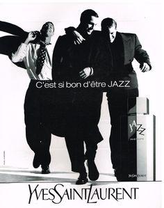Publicité Advertising 1991 Eau de Toilette pour Homme Jazz Yves Saint Laurent
