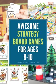 Sharpen critical thinking skills with these fun strategy board games for 8-10 year olds (and beyond) that the whole family will love.  #familygamenight #strategyboardgames #strategygames #boardgames #boardgamesforkids #theantijunecleaver @reganajc