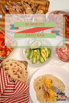 Tasty tacos with all the fixin's in about 30 minutes! #WeekdaySupper